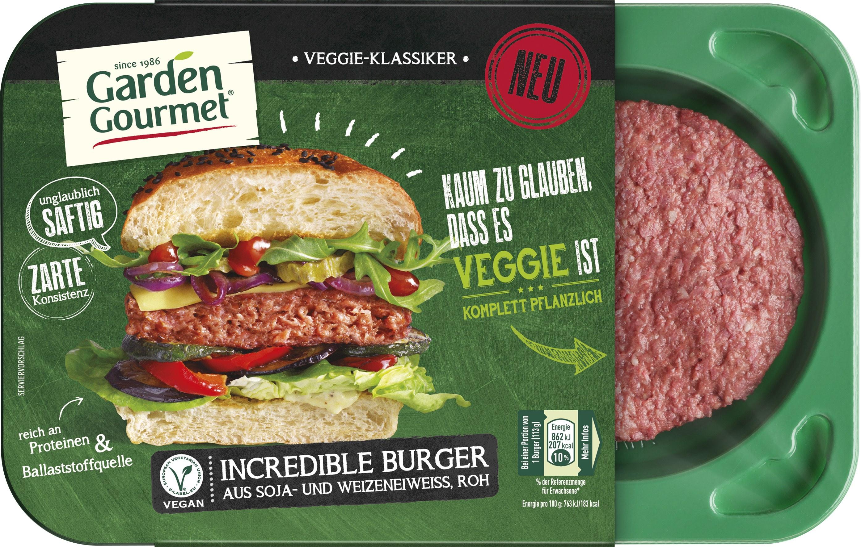 Incredible Burger Garden Gourmet
